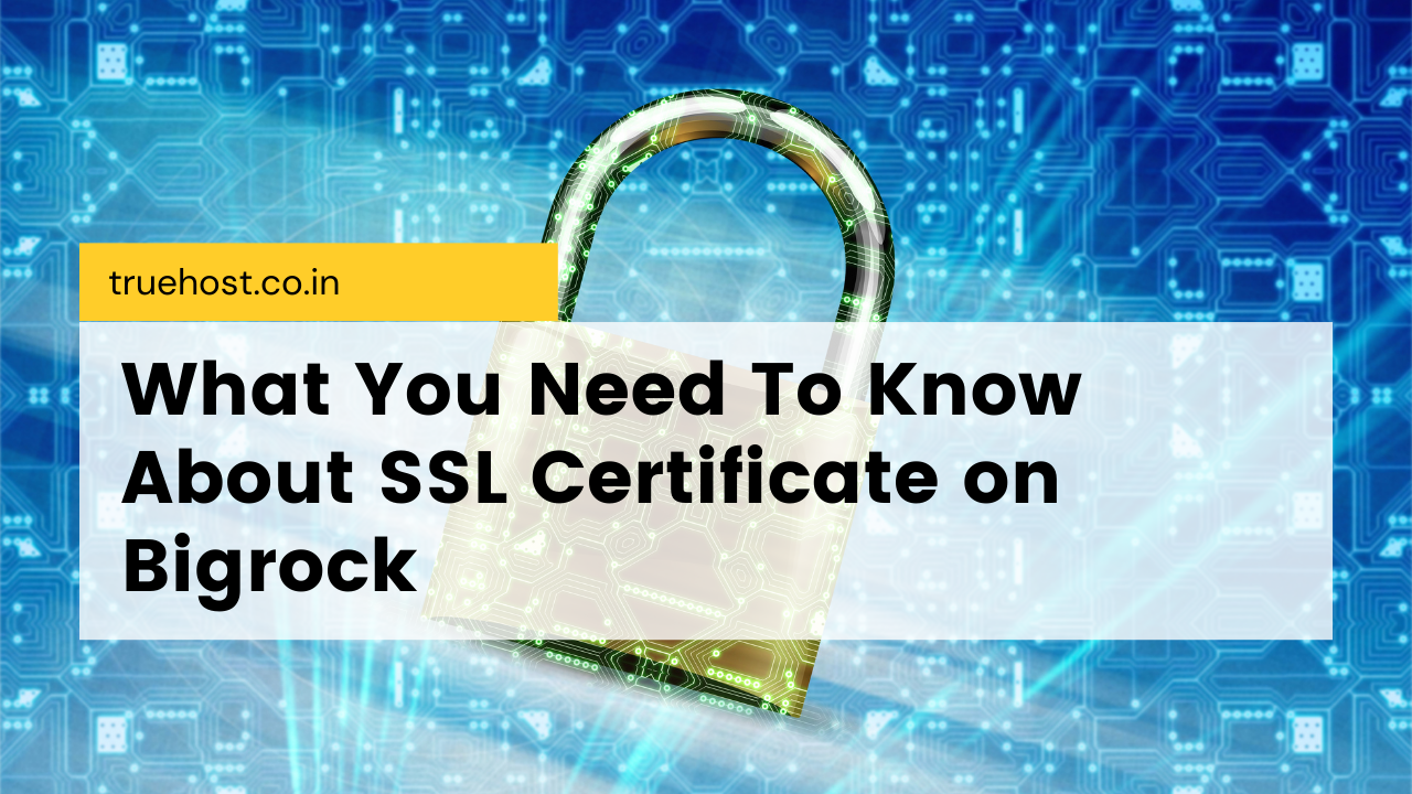 SSL certificate on Bigrock